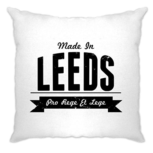 Made in Leeds Roundhay Kikstall Abbey House Museum Thwaite Mills Meanwood Valley Distressed Cushion Cover Cool Funny Gift Present Home Lounge Sofa (Christmas Roundhay Park)