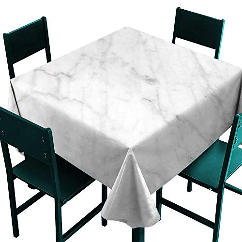 - Marble Tablecloth Custom Carrara Marble Tile Surface Organic Sculpture Style Granite Model Modern Design Dust Grey White Small Square Tablecloth W 36