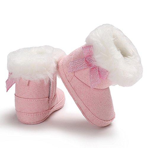 Baby Girl Premium Soft Sole Bow Warm Winter Infant Prewalker Toddler Snow Boots