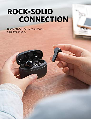 Soundcore Liberty Air Auriculares inalámbricos con Estuche de Carga, Bluetooth 5, Tiempo de reproducción de 20 Horas, Control táctil, Sonido Mejorado con ...
