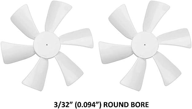 Hoja de ventilador de ventilación para RV, color blanco, 6 ...
