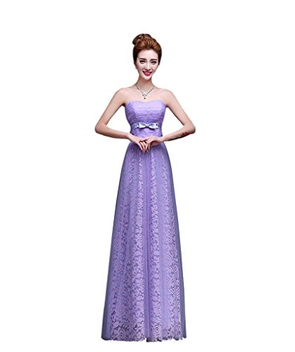 Violett Kleid A Linie Drasawee Damen Violett wfXqHAO