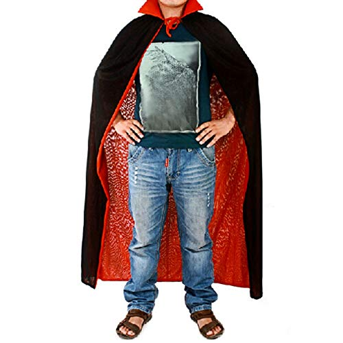 Novelty Vampire Dracula Cloak Cape Halloween Fancy Dress Costume Long Tippet Cloaks Robe Black Red Reversable Creative