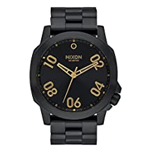 Nixon Unisex Ranger 45 All Black/Gold Watch