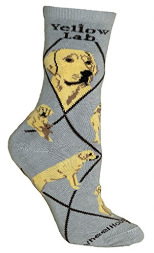 Yellow Labrador Retriever Cotton Puppy Dog Breed Animal Socks (Labrador Retriever Socks)