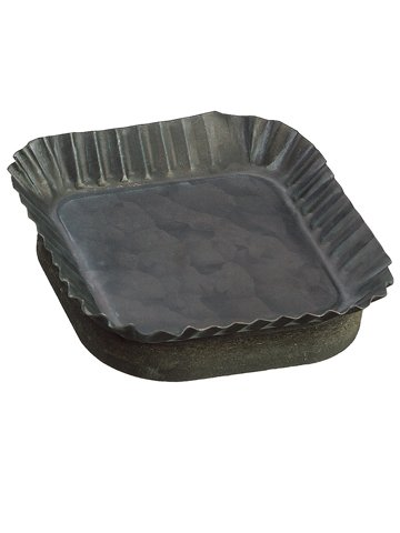 1.3''Hx4.8''D Tin Plate Gray (Pack of 30) by Silk Decor