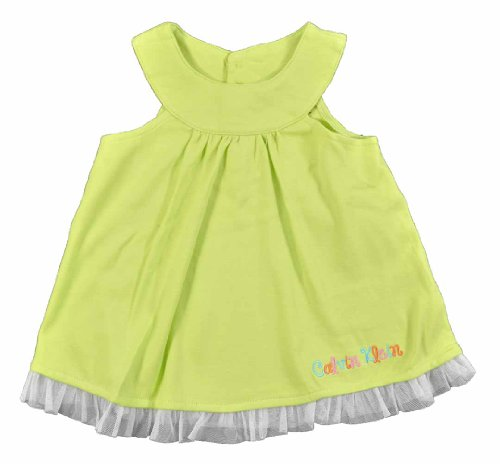 Calvin Klein Baby-Girls Newborn Tunic with Printed Leggings, Lime, 0-3 Months