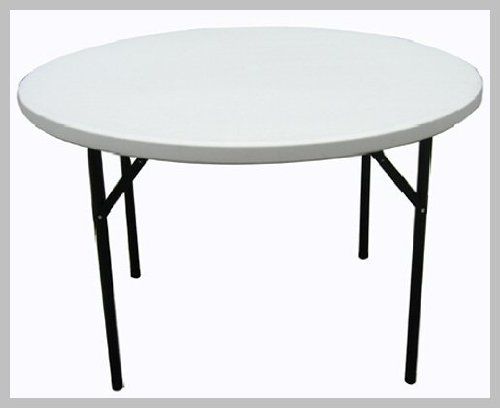 4FT Diameter Folding Round Table with Folding Legs 4Ft Round