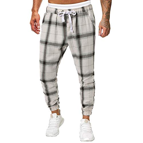 khdug✿ Pants for Men, Fashion Striped Long Jeans Slim Fit Pants Causal Trousers Full Length