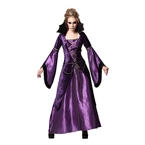 YaXuan Witch Angel/Devil Ghost Vampire Cosplay Costume Movie Cosplay Purple Dress Halloween Carnival New Year Terylene (Color : Purple, Size : M) ()