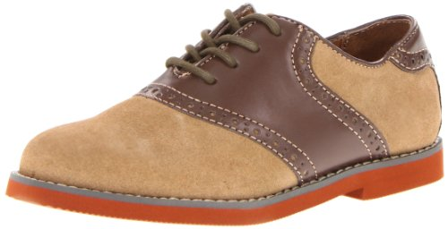 Florsheim Kids Kennett JR Saddle Shoe (Toddler/Little Kid/Big Kid), Sand, 12 M US Little Kid