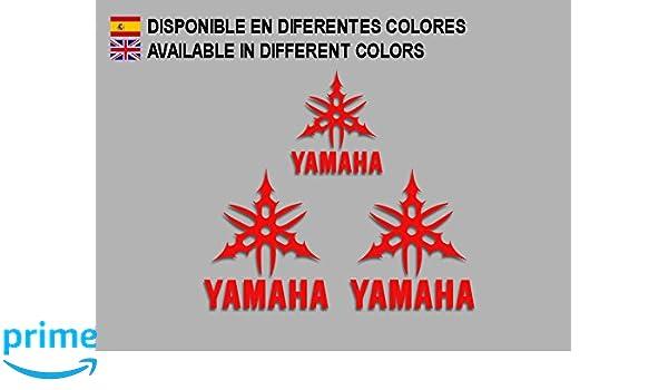 Rojo Ecoshirt IT-EZDT-K3VJ Pegatinas Tmax Xmax Fz6 R1 R6 F204 Stickers Aufkleber Decals Moto GP Bike
