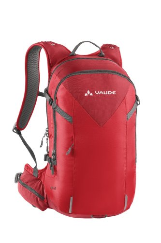 Vaude Ideal Capacity in with with Backpack Polyamide Backpack Bicycle Red Raincover Built Helmet Rucksack and Pump Cycling Holder Path Bike rtwv8qgr