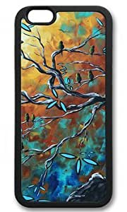 Abstract Bird Art Painting DIY Rubber Black iphone 6 plus Case On Custom Service