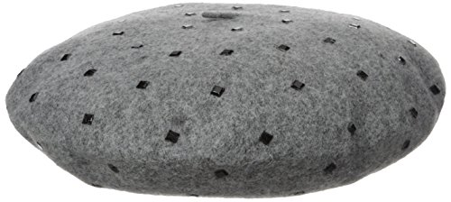 Vince Camuto Women's Studded Wool Beret, Grey, One Size (Beret Studded)