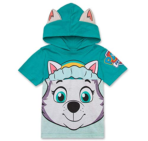 Nickelodeon PAW Patrol Hooded Shirt: Skye, Everest - Girls (Turquoise Everest, 4T)