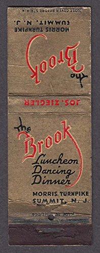 The Brook Luncheon Dancing Dinner Morris Turnpike Summit NJ - Morris Turnpike
