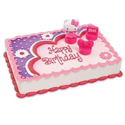 Amazon Com Hello Kitty Cake Decoration Topper Birthday Party