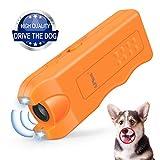Handheld Dog Repellent, Ultrasonic Infrared Dog Deterrent, Bark Stopper Good Behavior Dog Training for Outdoor Camping Garden
