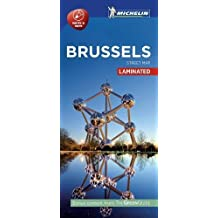 Michelin Brussels City Map - Laminated