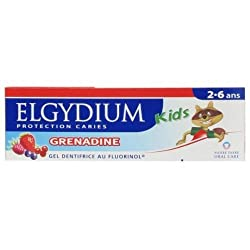 Elgydium Red Berries Toothpaste Gel with Fluorinol for 2-6 Years Old Kids 50 Ml