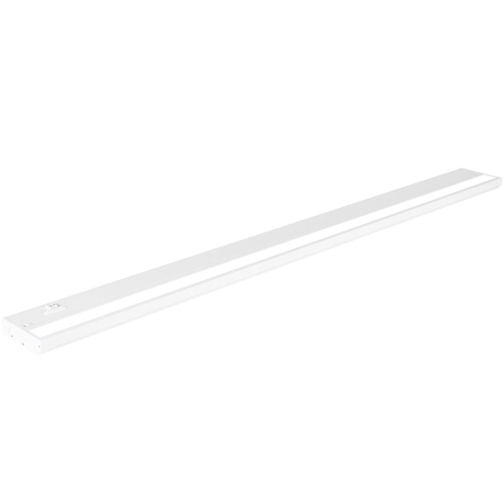 LED Under Cabinet Lighting by NSL - Dimmable Hardwired or Plugged-in installation - 3 Color Temperature Slide Switch - Warm White (2700K), Soft White (3000K), Cool White (4000K) - 40 Inch White Finish