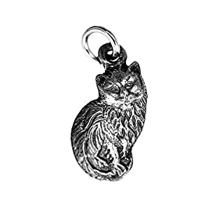 Real Sterling silver 925 Cute British Longhair Persian cat Sterling Silver CHARM