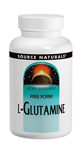 Source Naturals L-Glutamine 500mg Free Form Amino Acid Essential For Protein Synthesis - Pure - 50 Capsules