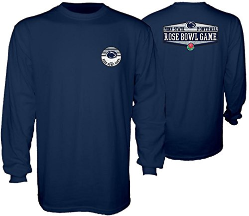 Bowl State Penn Rose (Elite Fan Shop Penn State Football Rose Bowl Long Sleeve Tshirt Navy - L)