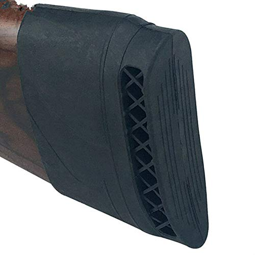 Zsling Rifle Shotgun Slip on Recoil Pad Butt Gun Protector Stock Rubber TPR Hunting Shooting Extension Accessories Black Brown (Black)