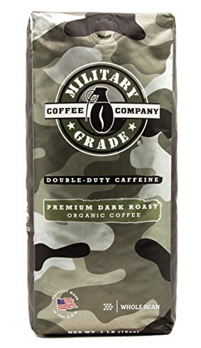 Military Grade Whole Bean Coffee, The Strongest Coffee On The Planet, Organic – 16 Oz. Bag