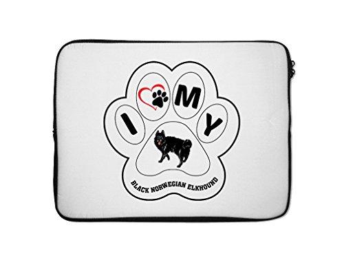Style in Print BLACK NORWEGIAN ELKHOUND DOG I PAW MY Lapt...