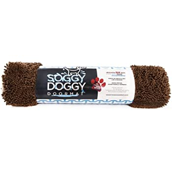 Soggy Doggy 36-Inch by 60-Inch Microfiber Chenille Doormat for Wet Dog Paws, Brown, Extra Large