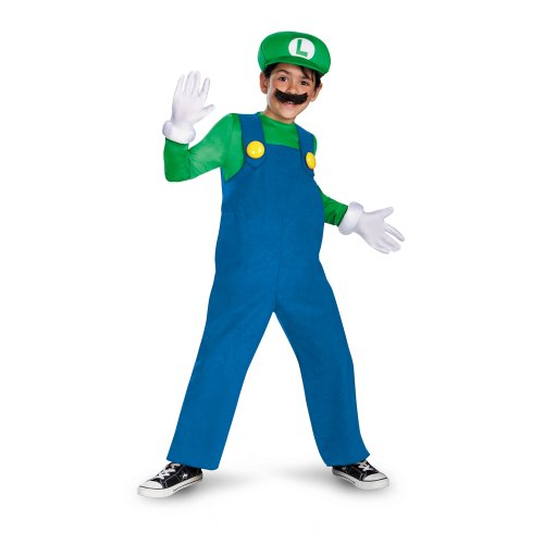 Mario and Luigi Child Costume Luigi (green &