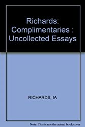 Complementarities: Uncollected Essays