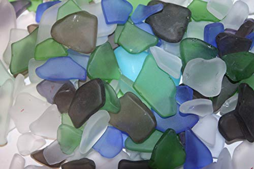 (Southern Metal 14 pounds Sea Glass Machine Tumbled Assorted Colors Seaglass, 1/2