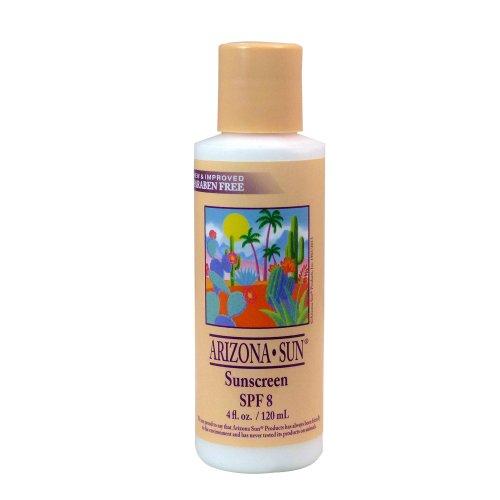 Oil Free Spf 4 Sunscreen - Arizona Sun Sunscreen SPF 8 - 4 oz - A Sun Protection Sun Screen Lotion - Oil Free -Face and Body Sunblock- Sun Block for Outdoors