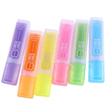 Baosity 6 fColors Fluorescent Highlighter Marker Pens Stationery & School Equipment