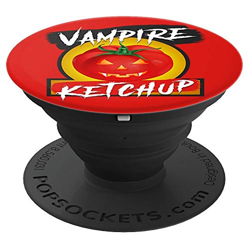 Halloween Vampire ketchup Bottle Label Design - PopSockets Grip and Stand for Phones and Tablets -