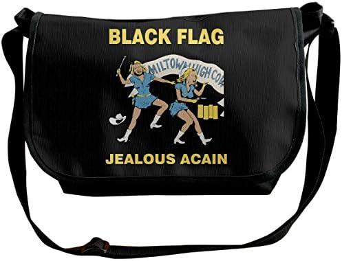 ショルダーバッグ スポーツバッグ ワンショルダー ブラックフラッグ メッセンジャーバッグ 斜めがけ ボディバッグ 肩掛けバック 大容量 A4ファイル収納可能 多機能 日常お出かけ 通勤 通学 無地 メンズ カバン ユニセックス