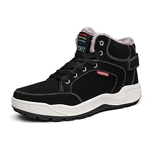 excellent.c Men's Martin Boots with Casual Shoes Cotton Shoes Outdoor Shoes(Black 39/6 D(M) US Men)