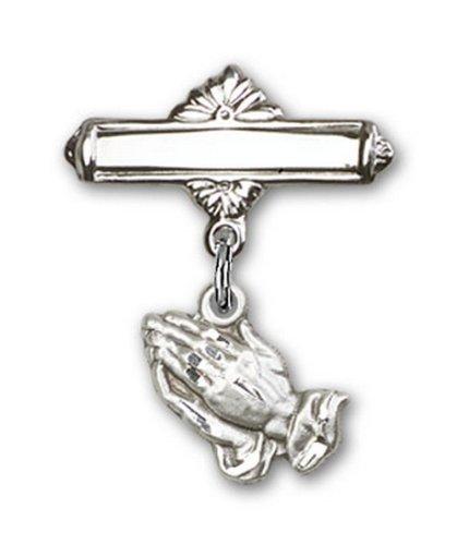 Icecarats Créatrice De Bijoux En Argent Sterling Mains En Prière Charme Broches Badge 7/8 X 5/8