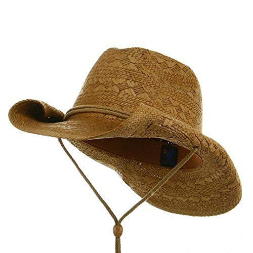 MG Ladies Toyo Straw Cowboy Hat COFFEE]()