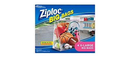 Ziploc Big Bag Double Zipper, X-Large, 4-Count ()