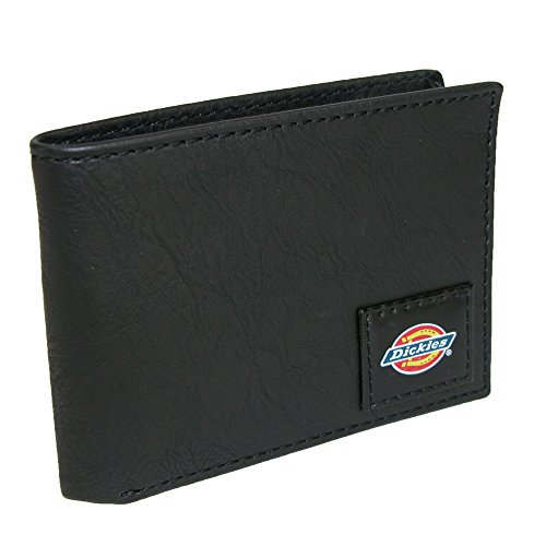 Dickies Men's Slim Fold Wallet with Patch Logo, Grey, One Size