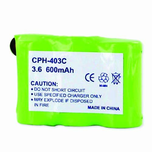 Sanik 3SN60AAH3BML Cordless Phone Battery Ni-MH 1X3-2/3AA/C, 3.6 Volt, 600 mAh - Ultra Hi-Capacity - Replacement for Rechargeable Battery ()