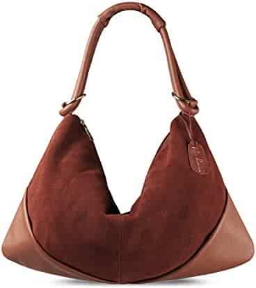 61535b9deed Nico Louise Suede Leather Hobo Bag Top Handle Women Dumpling Bag Large  Handbag