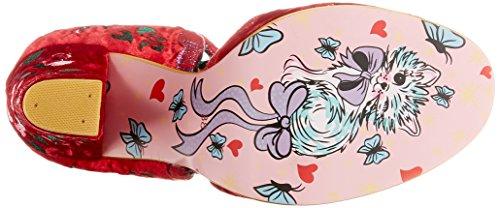 Irregular Choice Damen Fluffy Ducks Riemchensandalen Pink (Red)