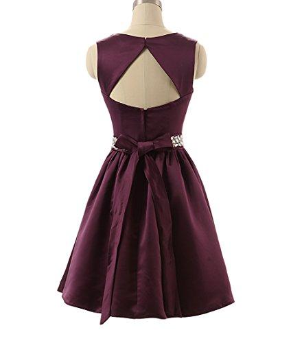 Kleider eine Cocktailkleid Lila Mini Neu Linie Lovelybride Frauen Dark kurze ärmellose Party awq8P05fc