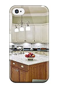 For MsbucPT5037tJglb Lime-white Curved Kitchen With Marble-topped Island Protective Case Cover Skin/iphone 4/4s Case Cover